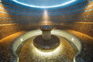 Turkish sauna interior hammam room water hot bath