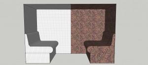 Disegno tecnico panca con schienale  04.12