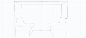 Disegno tecnico panca con schienale SKETCH GRAPH